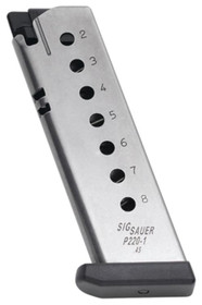 Sig P220 Magazine 45 ACP 8rd Stainless Finish