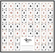 Looper Law Enforcement Playing Card Target #1 100/Package