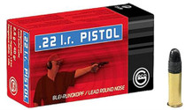 Geco 22LR Lead Round Nose Rifle 40gr, 50rd/Box