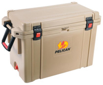 Pelican ProGear Cooler 95Qt Elite Sloped Drain Fish Scale Tan