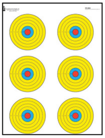 "Looper Law Enforcement High Visibility Fluorescent 6 Bulls-Eye Target, 17.5x23"", 100/Package"