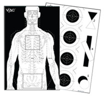 "Looper Law Enforcement Viking Tactics Double Sided Advanced Training Target 23x35 "", Black/White, 100/Pack"