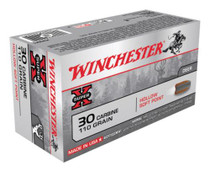Winchester Super X 30 Carbine Hollow Soft Point 110gr, 50rd Box