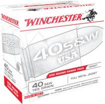 Winchester Target Range Bulk Pack .40 S&W 165gr, Full Metal Jacket, 200rd Pack
