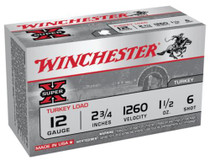 "Winchester Super-X Turkey 12 Ga, 2.75"", 1260 FPS, 1.5oz, 6 Shot Copper Plated, 10rd/Box"