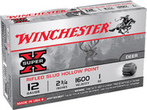 "Winchester Super-X Rifled Lead 20 Ga, 2.75"", 3/4oz, Slug, 15rd/Box"