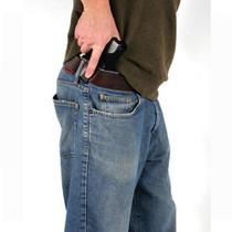 """Blackhawk Inside-the-Pants Holster Glock 26/27/33, Up to 2.25"""" Belts. Black, Left Hand"""