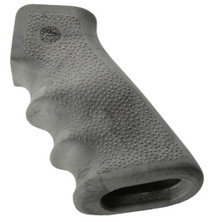 Hogue AR-15 Overmolded Rubber Grip, Finger Grooves Matte Ghillie Green