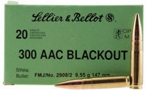 Sellier and Bellot 300 Blackout 147 FMJ 20rd/Box