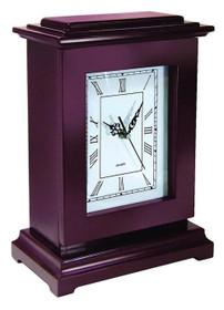PSPI Concealment Rectangle Clock 13x9x6 Wood Mahogany
