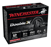 "Winchester Supreme Double X Turkey 12 Ga, 3.5"", 2-1/4oz, 6 Shot, 10rd/Box"