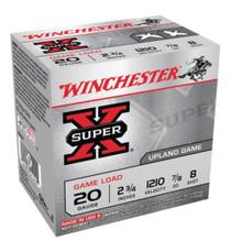 "Winchester Super X-Game 20 Ga, 2.75"", .88oz, 8 Shot, 25rd/Box"