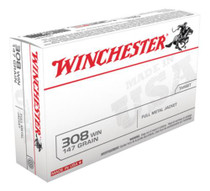 Winchester USA .308 Win/7.62 NATO 147 Gr, FMJ Boat-Tail, 20rd/Bx
