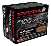 Winchester Razorback XT Handgun Ammunition .44 Remington Magnum 225 Grain Razorback XT
