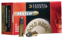 Federal Premium Gold Medal Match 22LR 40gr Solid, 50rd/Box, 100 Box/Case