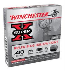 "Winchester Super-X Rifled Lead 410 Ga, 2.5"", 1/5oz, Slug, 5rd/Box"