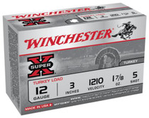 "Winchester Super-X Turkey 12 Ga, 3"", 1210 FPS, 1.875oz, 5 Shot Copper Plated, 10rd/Box"