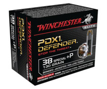 Winchester Bonded PDX1 Defender .38 Special +P 130gr, Bonded PDX1 20rd Box