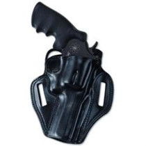 Galco Combat Master Belt Holster, Fits for GLOCK 20, 21, 37, Right Hand, Black Leather