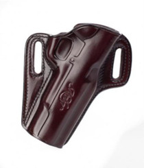 Kimber 1911 5-inch Concealable holster brown leather Kimber logo