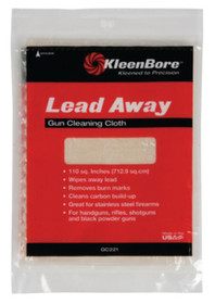 Kleen-Bore Lead Away Gun Cleaning Cloth, 100 Sq Inch