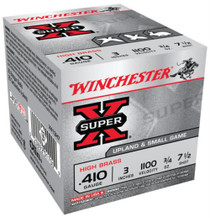 "Winchester Super-X High Brass .410 Ga, 3"", 1100 FPS, .75oz, 7.5 Shot, 250rd/Case"