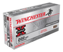 Winchester Super X 222 Remington Pointed Soft Point 50gr, 20Box/10Cs