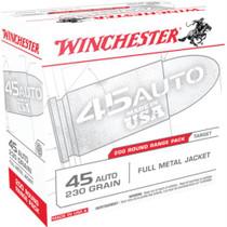 Winchester Target Range Bulk Pack 45 ACP 230gr, Full Metal Jacket, 200rd Pack