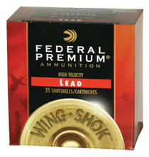 "Federal Premium Wing-Shok HV Lead 12 Ga, 2.75"", 1 1/8oz, 7.5 Shot, 25rd/Box"