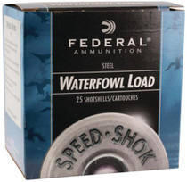 "Federal Speed-Shok Steel 12 Ga, 3.5"", 1500 FPS, 1.5oz, 2 Shot, 25rd/Box"