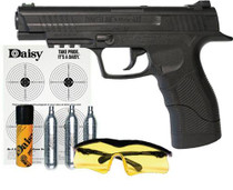 Daisy Powerline 415 Air Pistol Kit SA CO2 Powered .177 BB 21rd Synthetic Stock Black