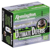 Remington Ultimate Home Defense 45 ACP 230gr, Brass Jacketed Hollow Point 20rd Box