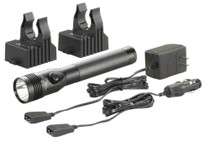 Streamlight Stinger DS LED HL Dual Switch Rechargeable Flashlight With Two AC/DC Holders