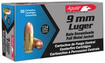 Aguila 9mm 124gr, FMJ, 50rd Box