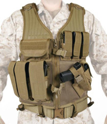 Blackhawk Omega Elite Cross/Draw Pistol and Magazine Vest Coyote Tan