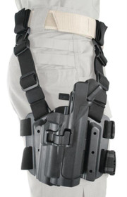 Blackhawk Level 3 Serpa Light Bearing Tactical Holster Right Hand Black For Sig 220/226 With or Without Rail