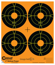 "Battenfeld Technologies Caldwell Orange Peel Flake Off Bullseye Targets 4"" 25 Sheets/4 Per Sheet"