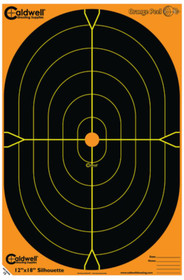 "Battenfeld Technologies Caldwell Orange Peel Flake Off Oval Silhouette Targets 12x18"" 100 Per Package"