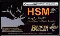 HSM Trophy Gold .30-378 Weatherby Magnum 210gr, Boat Tail Hollow Point, 20rd/Box