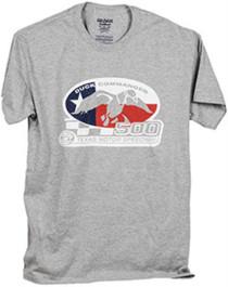 Duck Commander Texas Flag T-Shirt Short Sleeve Gray Small Cotton