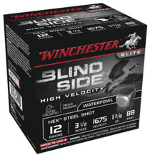 "Winchester Blind Side Steel Hex High Vel 12 Ga, 3.5"", 1675 FPS, 1.375oz, BB, 25rd/Box"