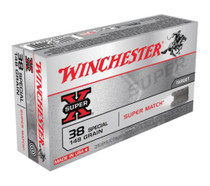 Winchester Super X 38 Special Lead Wadcutter 148gr, 50Box/10Case