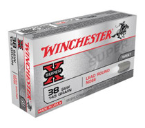 Winchester Super X 38 S&W Lead Round Nose 145gr, 50rd/Box
