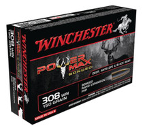 Winchester Power-Max .308 Winchester 150 Grain Protected Hollow Point Bonded 20rd/Box