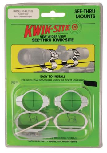 Kwik-Site See-Thru Mounts Ruger 10/22 SS