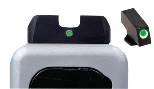 AmeriGlo I-Dot Night Sights, Glock 20/21/29, Green With White Outline