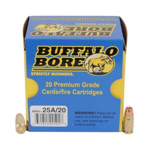 Buffalo Bore .357 Sig, 125 Gr, Low Flash, JHP, 20rd/Box