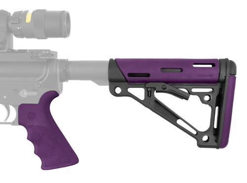 Hogue AR-15 Stock & Grip Kit, Purple