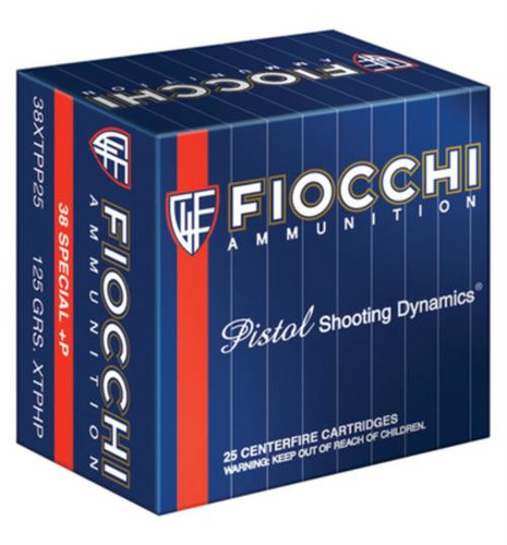 Fiocchi Extrema .38 S&W Special +P 125 Grain XTP Hollow Point 25rd/Box