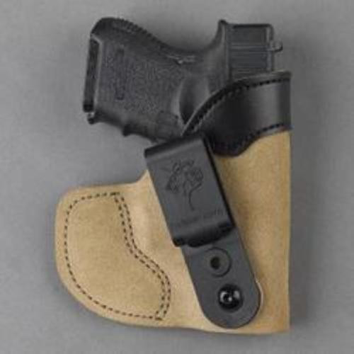 DeSantis Pocket-Tuk Holster, Small/Medium Frame Semi-Autos, Laser, RH, Tan Leather